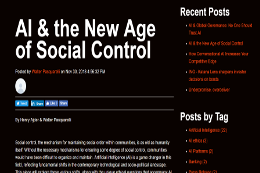 New age of social control